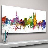 Bath Skyline Cityscape Art Print, White