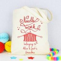Personalised 'Grandma's' Knitting Bag