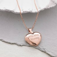 Personalised 18ct Rose Gold Heart Locket, Gold