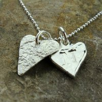 Personalised Chubby Heart Silver Necklace, Silver