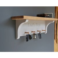 Personalised Key Rack In Choice Of Colour, Lime/White/Grey
