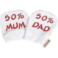 50% Mum And 50% Baby Dad Scratch Mittens