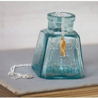 Angel Wing Necklace, Silver/Gold