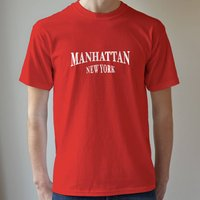 Personalised Men's T Shirt, Royal Blue/Blue/Red