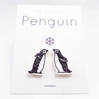 Christmas Penguin Stud Earrings