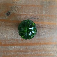 Small Green Glass Drawer Knob