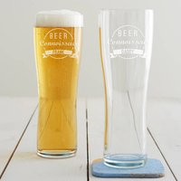 Personalised Beer Connoisseur Pint Glass