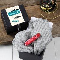Hooked On Fishing Sock And Chocolate Penknife Gift Set