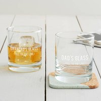 Personalised Fill To The Line Tumbler Glass