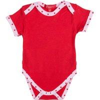 Baby Girl's Bodysuit, Red/Pink