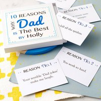 Personalised Best Dad Notes, White