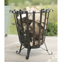 Garden Fire Black Steel Brazier Made In Britain