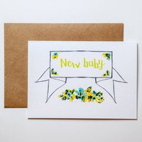 Calligraphy New Baby Card