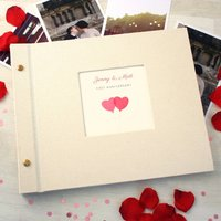 Personalised First Wedding Anniversary Photo Album