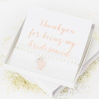 Thank You For Being My Bridesmaid Bracelet Gift Set, Purple/Amethyst/Grey