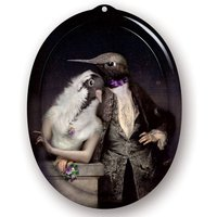 Galerie De Portraits Oval Tray The Lovebirds