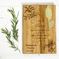 Our Family Personalised Oak Chopping Board