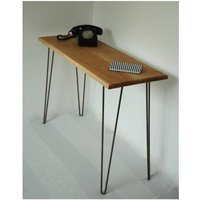 Margot Console Table Desk With Hairpin Legs, Black/Red/Yellow