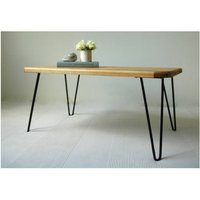 Ruby Coffee Table With Hairpin Legs, Black/Red/Yellow