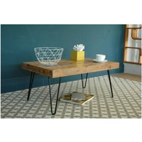 Billy Coffee Table With Hairpin Legs, Black/Red/Yellow