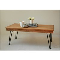 Harry Coffee Table With Hairpin Legs, Black/Red/Yellow