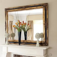 Classic Ornate Black And Gold Mirror