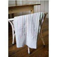 Chalkney Stripe Woven Throw Grey
