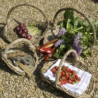 Willow Flower And Vegetable Basket