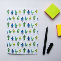 Cactus Print Notebook