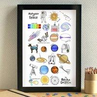 Space Alphabet Print Unframed