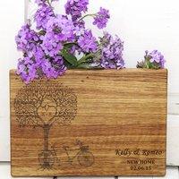 Tree Of Love Personalised Oak Chopping Board