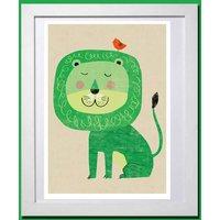 Retro Lion Print