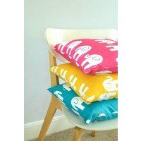 Handmade Retro Elephant Cushion, Green/Grey/Navy Blue