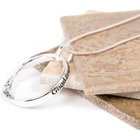 Angel Friend Silver Plated Message Necklace, Silver