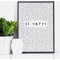 'Be Happy' Print