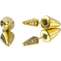 Gold Arrow Earrings With Diamante Back, Gold