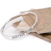 Inspirational Message Bangle, Silver/Rose Gold/Rose