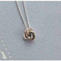 Eternity Knot Solid 9ct Gold Medium Pendant, Gold