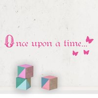 'Once Upon A Time...' Wall Sticker
