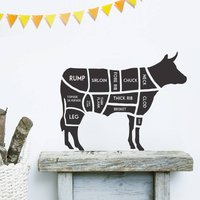 Butcher's Cow Wall Sticker, Yellow Orange/Yellow/Orange