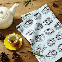 Shy Hedgehog Tea Towel