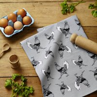Strutting Cockerel Tea Towel