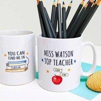 Personalised Top Teacher Gift Mug