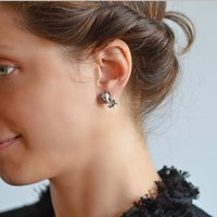 Sterling Silver Elephant Two Way Studs, Silver