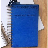 'Mr Misfortunate' Upcycled Notebook