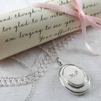 Sterling Silver Double Oval Locket, Silver