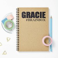 Personalised Recycled Hashtag Notebook