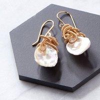 Keshi Pearl Drop Earrings
