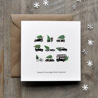 Vintage Transport Personalised Christmas Card