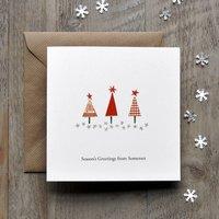 Christmas Trees Personalised Card